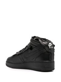 NIKE X CDG BLACK AIR FORCE 1 MID SNEAKERS