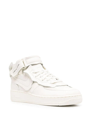 NIKE X CDG WHITE AIR FORCE 1 MID SNEAKERS