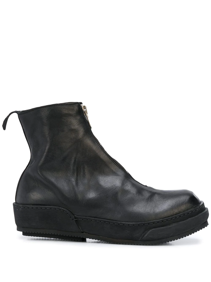FRONT ZIP ANKLE BOOTS