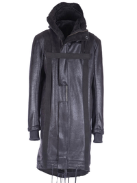 HARNESSED VEGAN SHEARLING PARKA