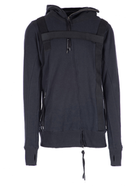 HARNESSED HOODED ZIP SWEATSHIRT