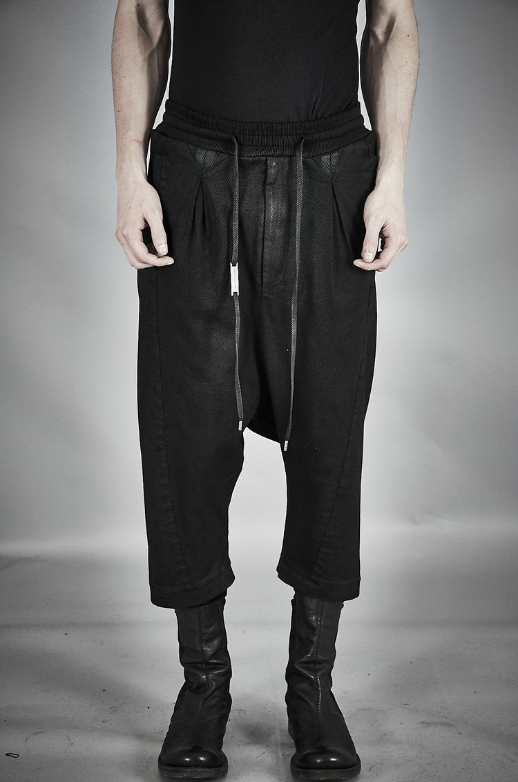 DOUBLE LAYER CROPPED TROUSERS