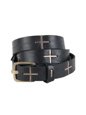 "Q BUCKLE ""+"" STAPLE BELT"