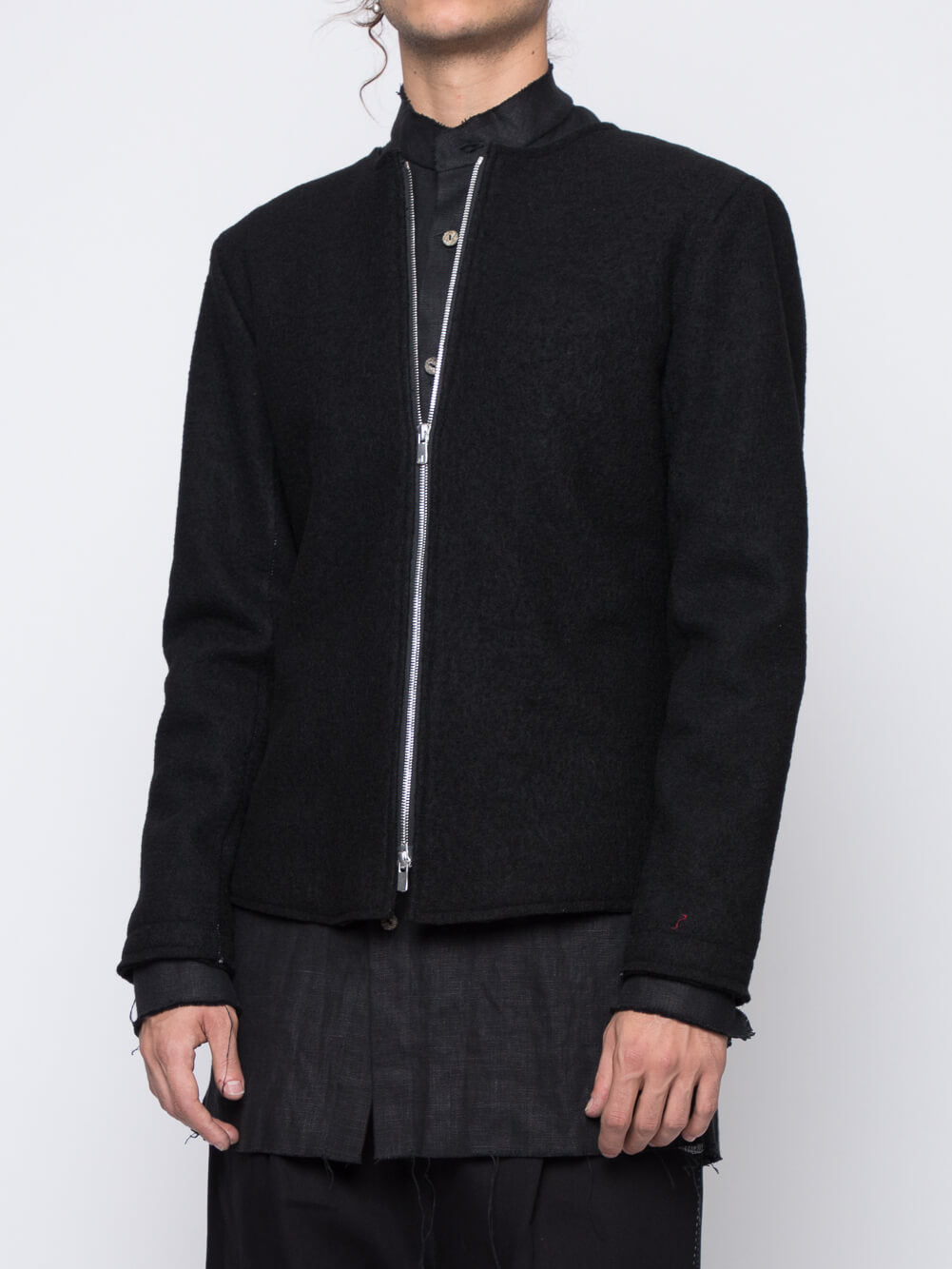 GISLI SCARSTITCHED WOOL JACKET