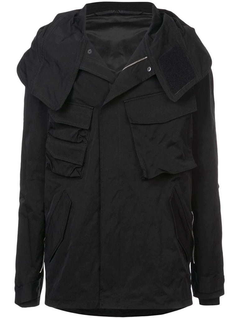 HOODED PARKA WITH ZIPPER DETAIL