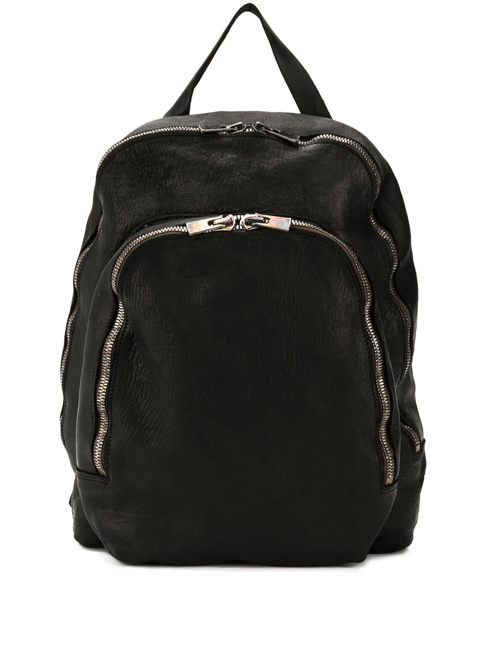 LEATHER DOUBLE ZIPPED BACKPACK