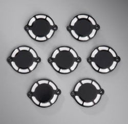 Black Billet Camshaft Covers (set of 8) - Motorcycle Specialist Parts