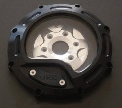 'OTEC' Black Painted Clear Clutch Cover
