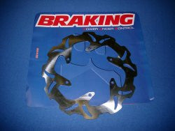 Braking' Wave' Solid Brake Disc 1985->1992 Fronts (or Rear All Years) each