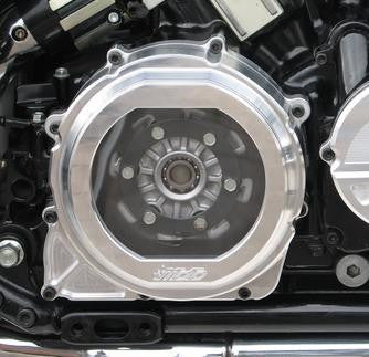'MOTO' Billet Alloy Clear Clutch Cover