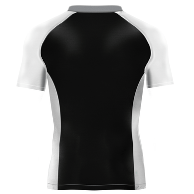 Black White and Gray Rash Guard - Rash Guards - Yudansha Fightwear - 2