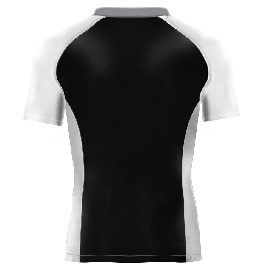 Black White and Gray Rash Guard - Rash Guards - Yudansha Fightwear - 1