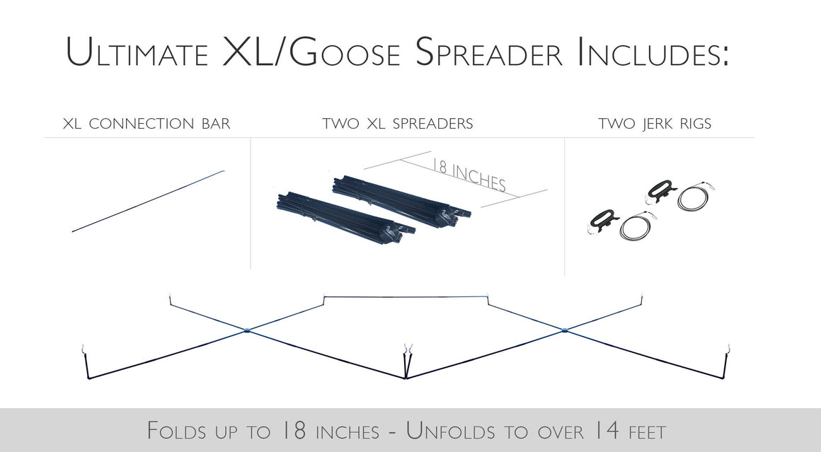 Ultimate XL/Goose Decoy Spreader with 2 Jerk Rigs & Connection Bar