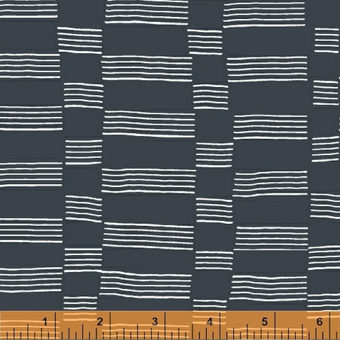 Striped blocks on grey Lucky - Na ponta d'agulha