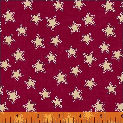 Red Stars Craft Paper Christmas - Na ponta d'agulha