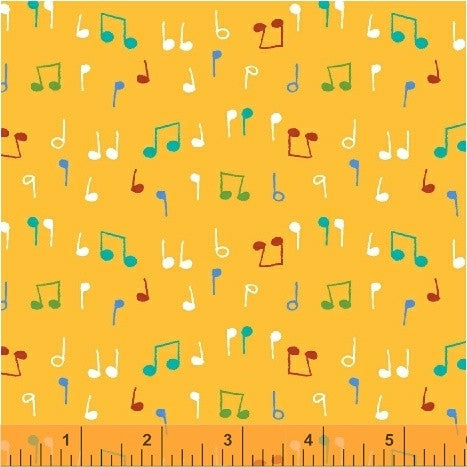 Musical Notes in Yellow Nursery Rhymes