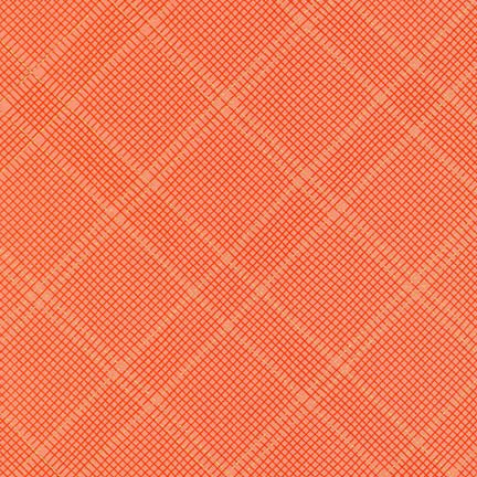 Creamsicle Metallic Grid Diamond