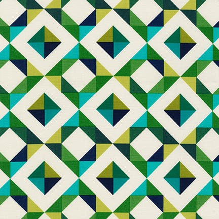 Abstract Diamond Canvas in Emerald - Na ponta d'agulha