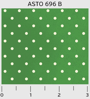 White dots on green Alphabet Story
