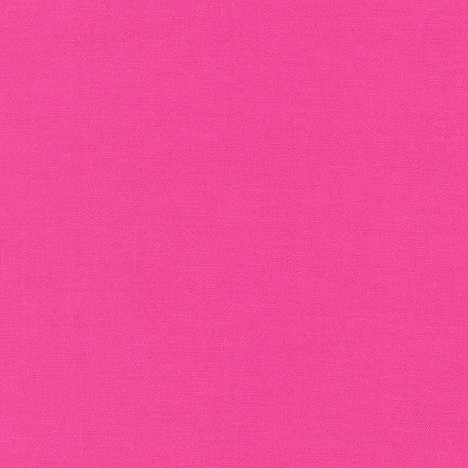 Bright Pink Kona Cotton Solids - Na ponta d'agulha