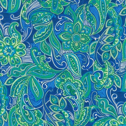 Blooming Paisley in Blue London Calling - Na ponta d'agulha