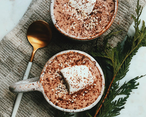 Tahini Hot Chocolate by Holistic Nutritionist Fran Allen