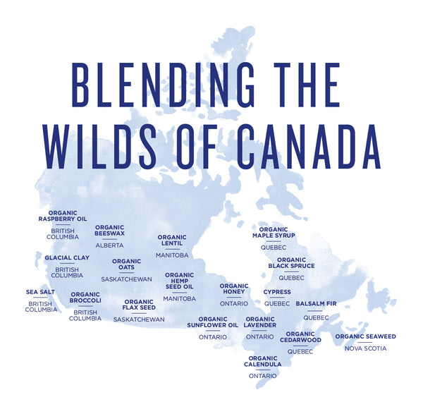 We love our amazing + powerful Canadian ingredients!
