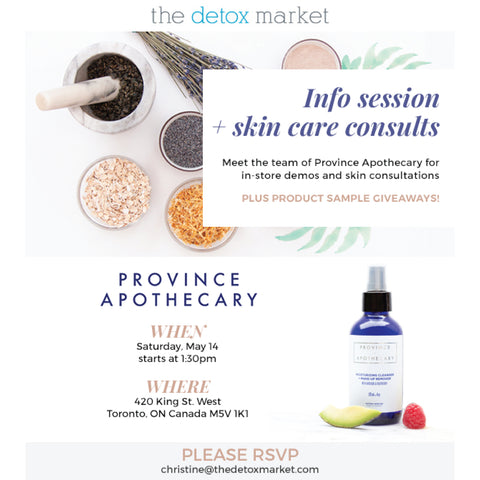 Event: The Detox Market, Saturday May 14th