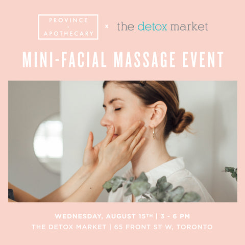 The Detox Market (Union) Mini-Facial Massage Event