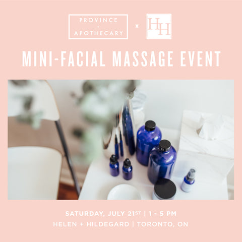 Helen + Hildegard Mini-Facial Massage Event