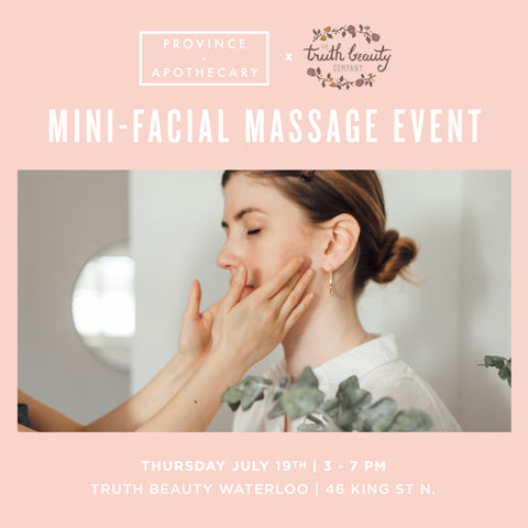 Truth Beauty (Waterloo) Mini-Facial Massage Event