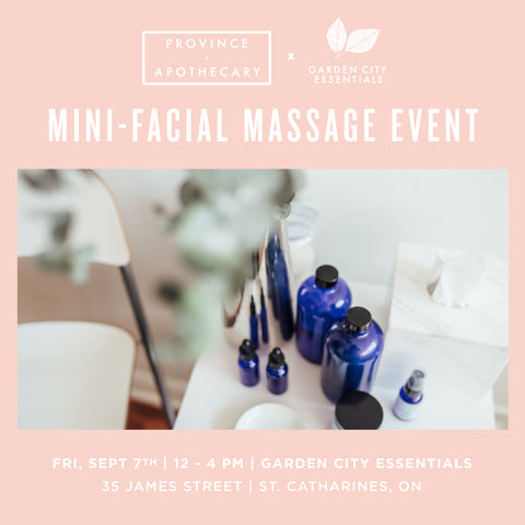 Garden City Essentials Mini-Facial Massage Event