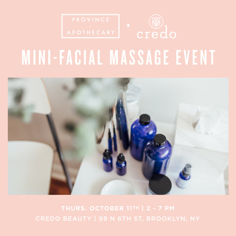 CREDO BEAUTY (BROOKLYN) MINI-FACIAL MASSAGE EVENT