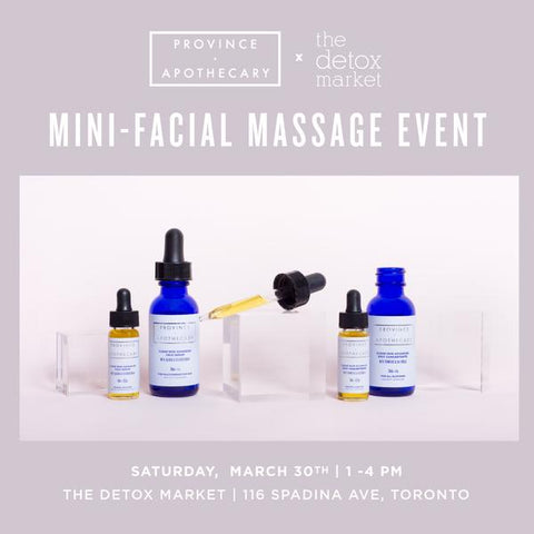 The Detox Market (Spadina Flagship) Mini-Facial Massage Event