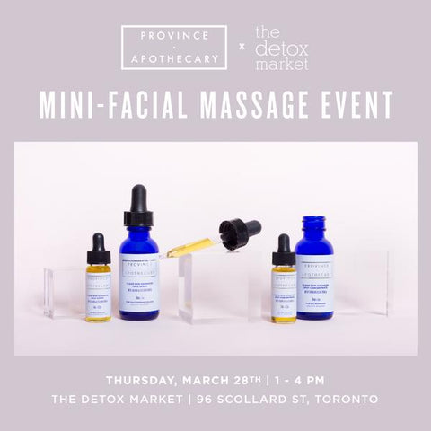 The Detox Market (Yorkville) Mini-Facial Massage Event