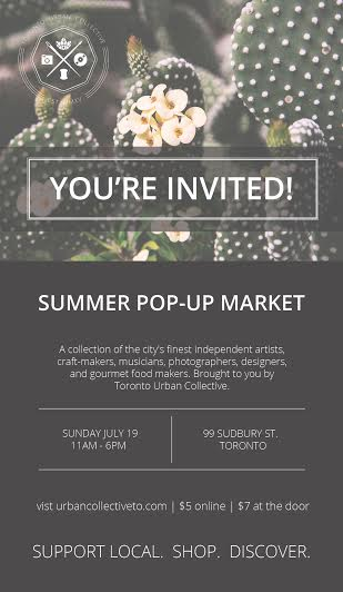 Upcoming Event: Summer Pop-up Market at 99 Sudbury