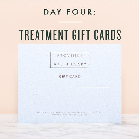 SEVEN DAYS OF GIFT GIVING | DAY 4: TREATMENT GIFT CARD