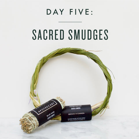 SEVEN DAYS OF GIFT GIVING | DAY 5: BLUE SAGE & SWEET GRASS SACRED SMUDGES