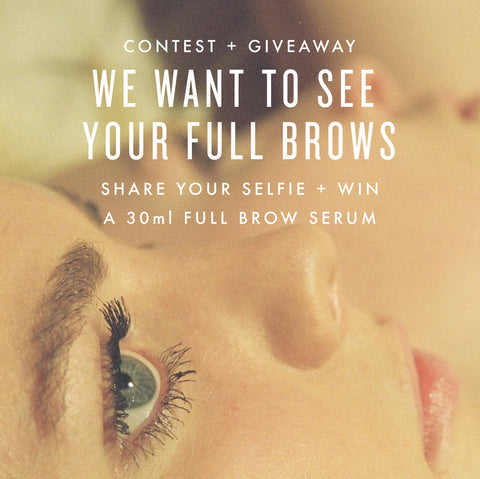 Giveaway + Contest! Win a Full Brow Serum!
