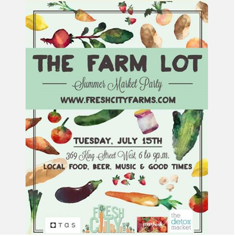 PA is at The farm lot summer market party Tuesday July 15th!