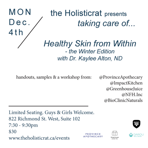 The Holisticrat Talk // Healthy Skin from Within with Dr. Kaylee Alton, ND
