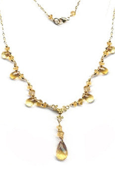 Citrine Signature Necklace with citrine briolettes and rondells