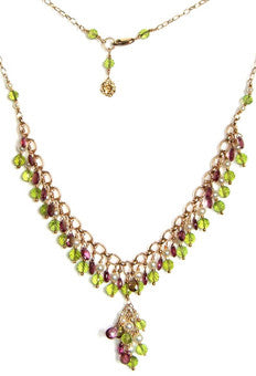 Peridot, Pink Garnet and Pearls!