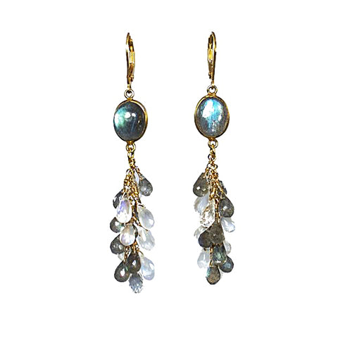 Moonstone and Labradorite Earrings