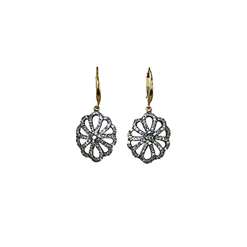 Pave Diamond Signature flowers-single sided.