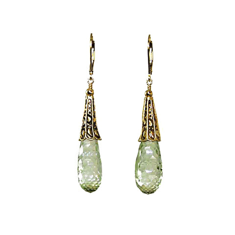 Green Amethyst (Prasiolite) Earrings