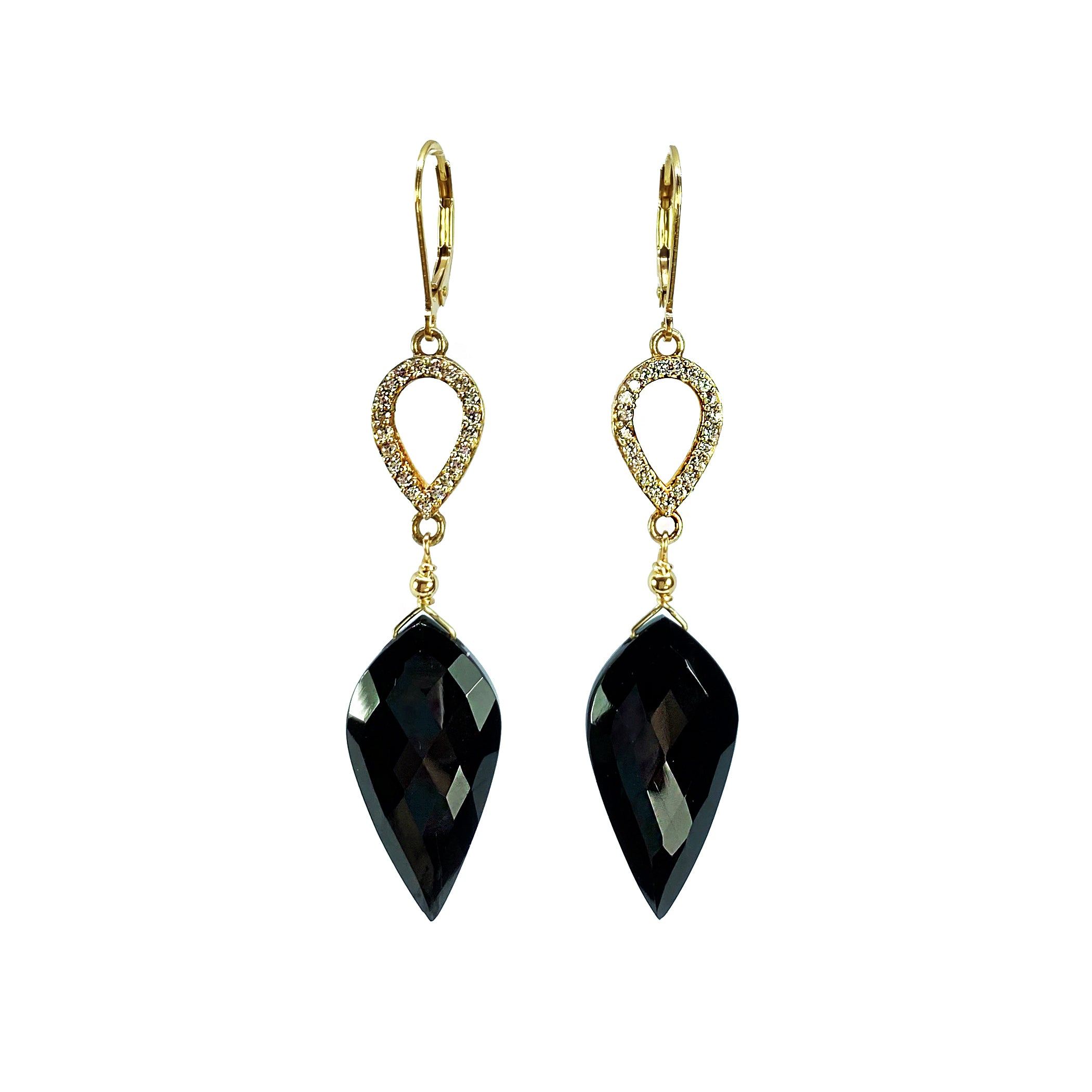Black Spinel and White Topaz