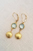 BlueTopaz and Gold vermeil Earrings