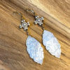 Vintage Inspired Carved Mother-of-Pearl Earrings!