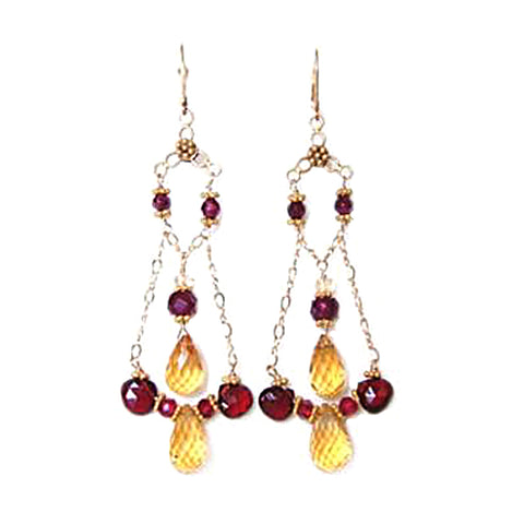 Garnet and Citrine Signature Earrings!